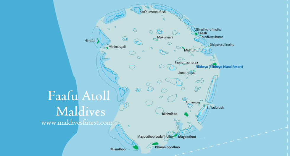 Faafu Atoll map with all resorts Maldives Map Org