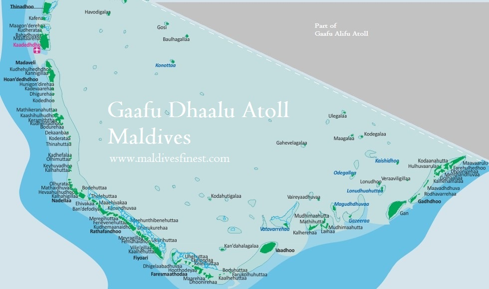 Gaafu Dhaalu Atoll Maldives map and islands Maldives Map Org